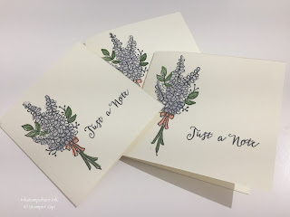Lots of Lavender notecards.