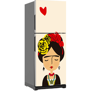 Decora con vinilos la nevera - Frida Kahlo