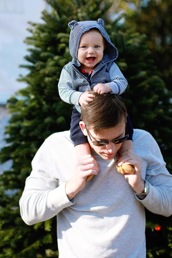 Baby's first Christmas - picking out a tree