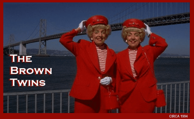 Vivian Brown and Marian Brown and the Bay Bridge 1994.