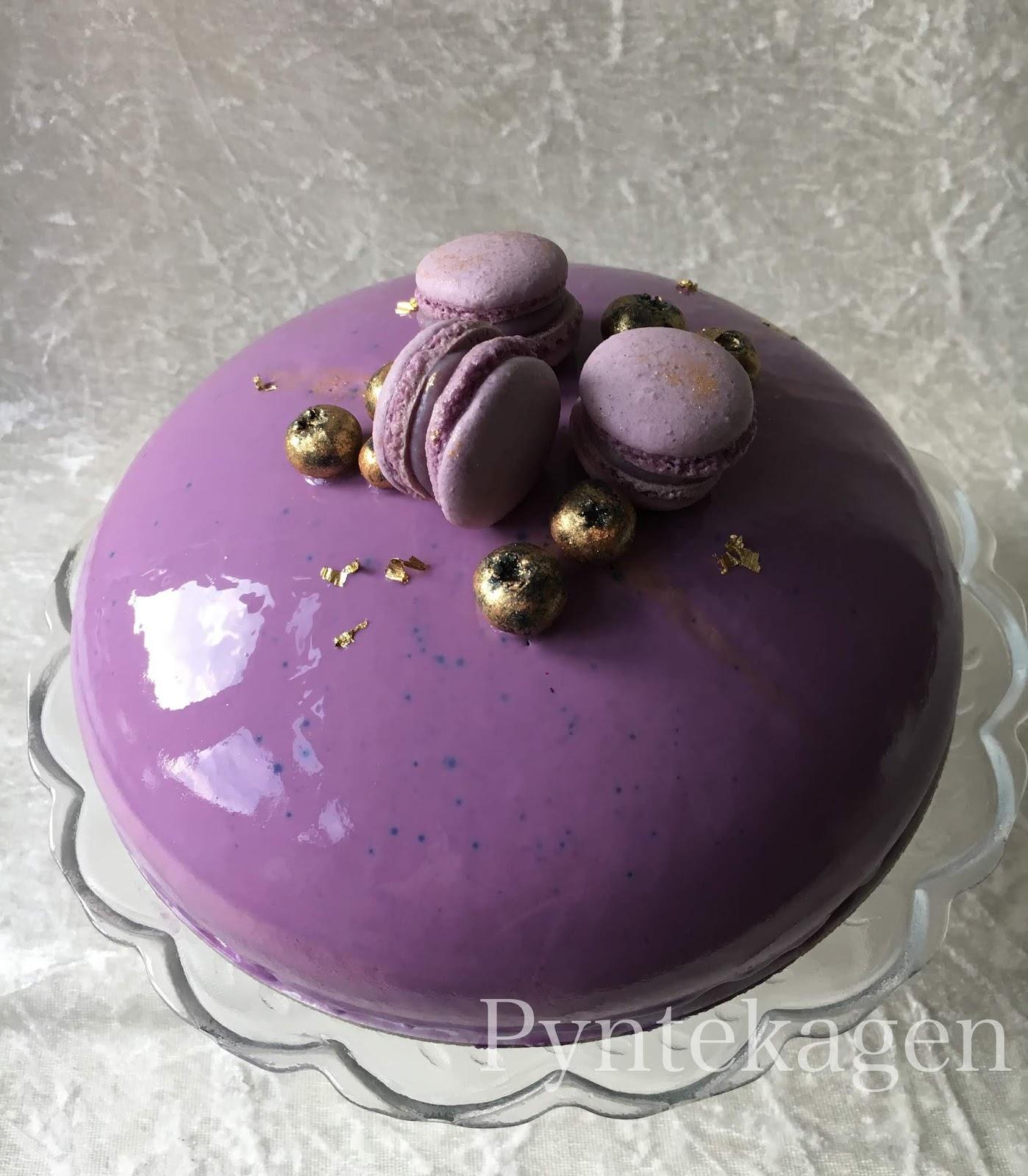 Oprindeligt PynteKagen: Blåbærmoussekage med brownie ZM03