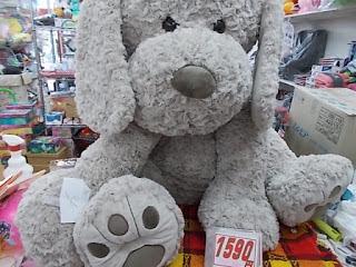 コストコアウトレット、犬のぬいぐるみのでかいの1590円傷みあり