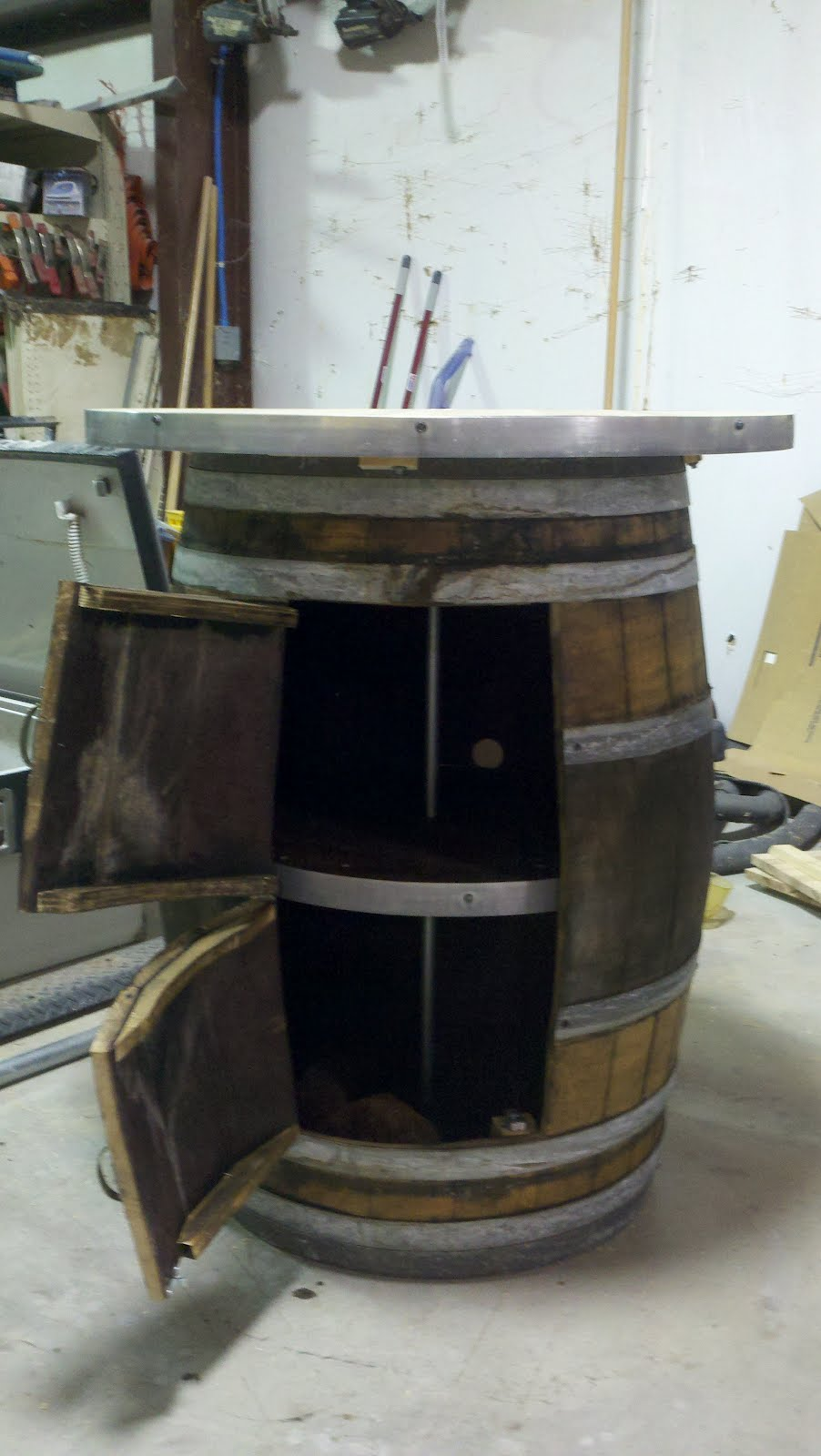 Parker Homes Amp Renovations Wine Barrel Table