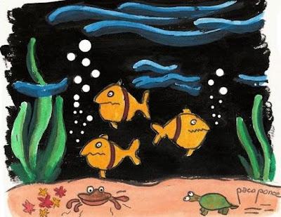 Dibujos de animales dentro del mar