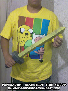 Life Sized Papercraft Adventure Time Sword