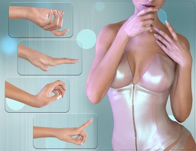 Z Beautiful Hands for Genesis 3 Female
