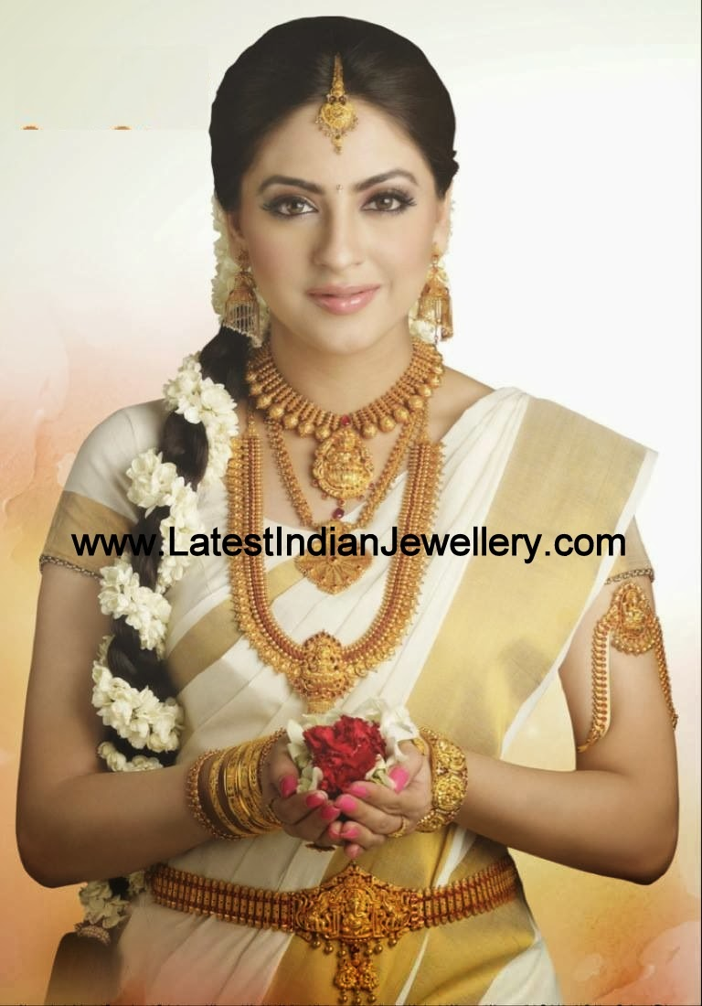 Complete Temple Jewellery Bridal Set Latest Indian