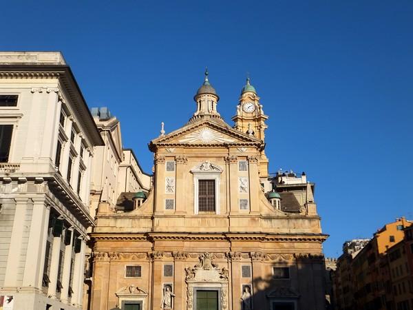 gênes genova église Gesù vieille ville