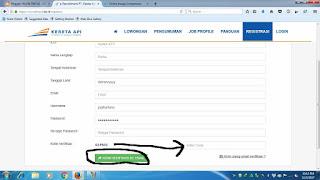 cara mendaftar atau daftar PT KAI Persero
