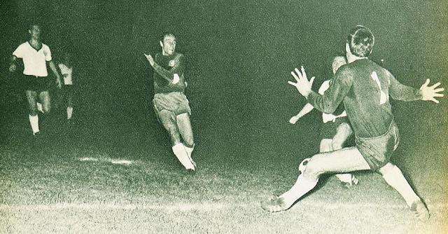 Chile y Alemania Federal en partido amistoso, 18 de diciembre de 1968