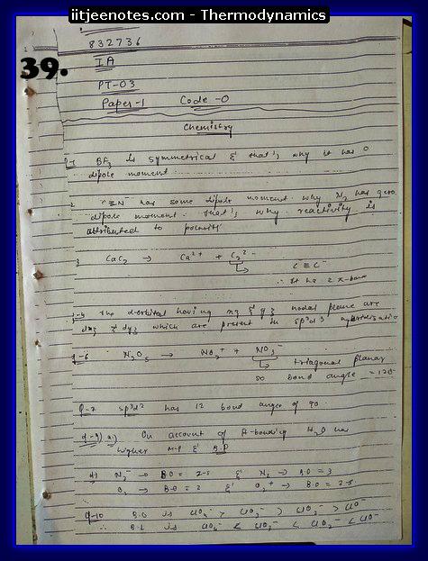Thermodynamics Notes IITJEE 7