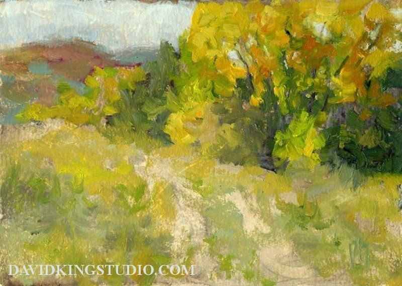 art painting oil autumn landscape oil water soluble