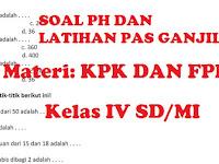 Soal KPK dan FPB Kelas 4 SD/MI Kurikulum 2013 Dan KTSP Terbaru