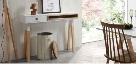 Mesa consola estilo nórdico