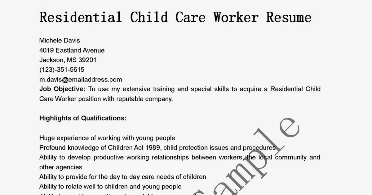 Daycare Resume Examples Basic Resume Sample Examples Of Resumes
