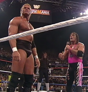 WWE / WWF - Wrestlemania 13 - Bret Hart confronts Sid and Undertaker