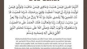 Bacaan Doa Qunut Sholat Subuh, Arab, Latin Dan Artinya