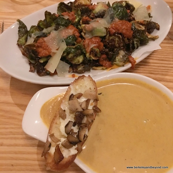 Brussels sprouts and butternut squash soup at Moonraker at Rockaway Beach in Pacifica, California