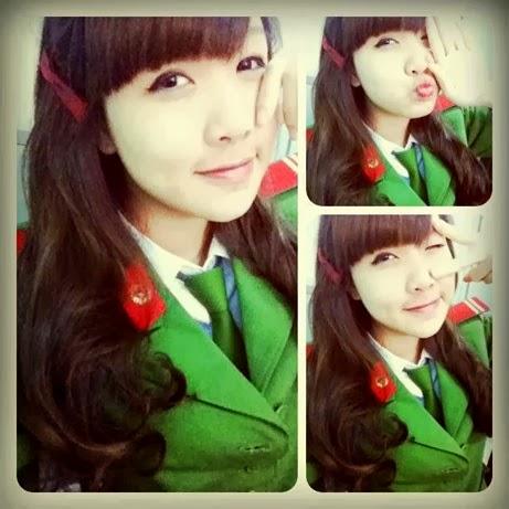 girl xinh cong an nhan dan viet nam