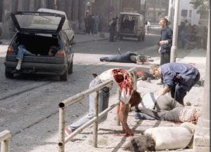 Resultado de imagen de atentado mercado sarajevo