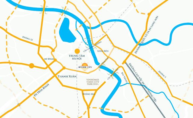 Vị trí đắc địa của Hinode City Minh Khai