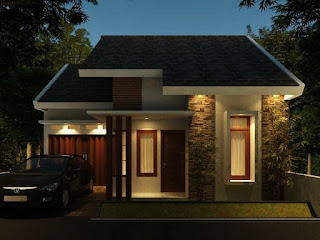 Minimalist House Design Type 45 With a Mini Garage