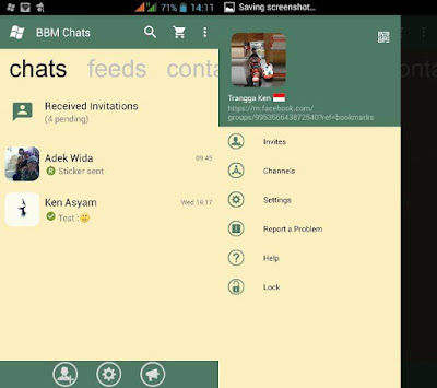 BBM WP 2.13 Apk Green Lemon Themes