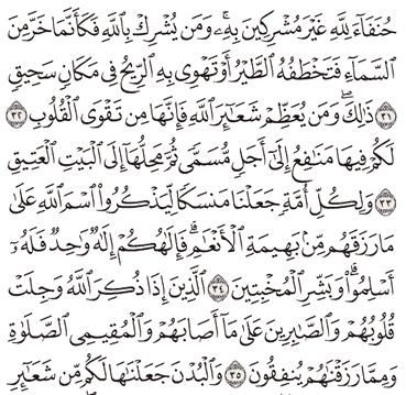 TAFSIR SURAT AL-HAJJ AYAT 31, 32, 33, 34, 35