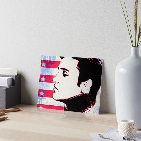 Elvis Presley pop art style print at redbubble