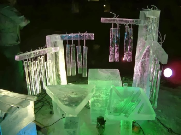 Really Cool Music: Creative Norwegian Musician Creates Ice Instruments