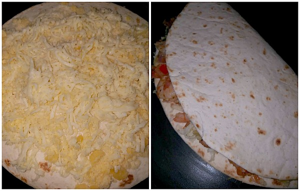 Steps to make Shrimp Quesadilla
