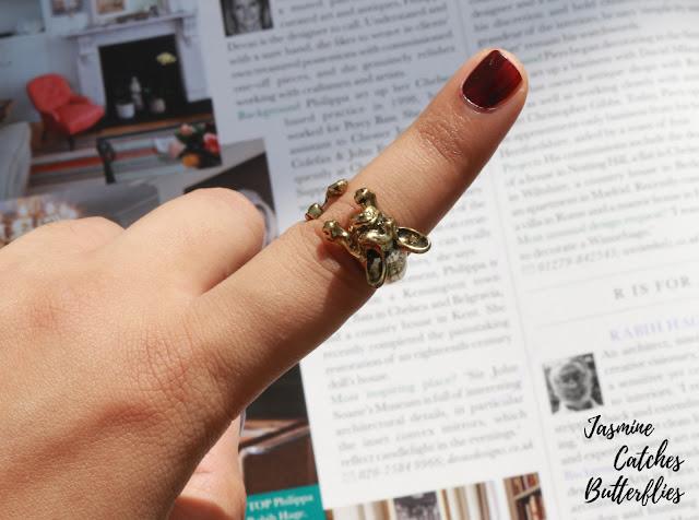 Antique Bull Dog Ring