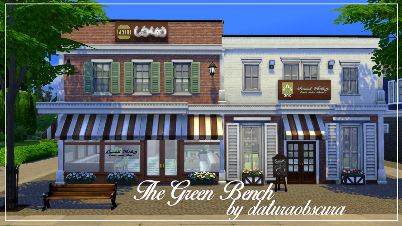 My sims the green bench restaurant by daturaobscura