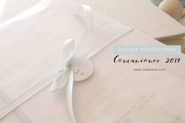 Nuevas invitaciones comuniones 2017 diseño de Habitan2 | Decoración handmade para hogar y eventos | Diseña personalizado de papelería bonita