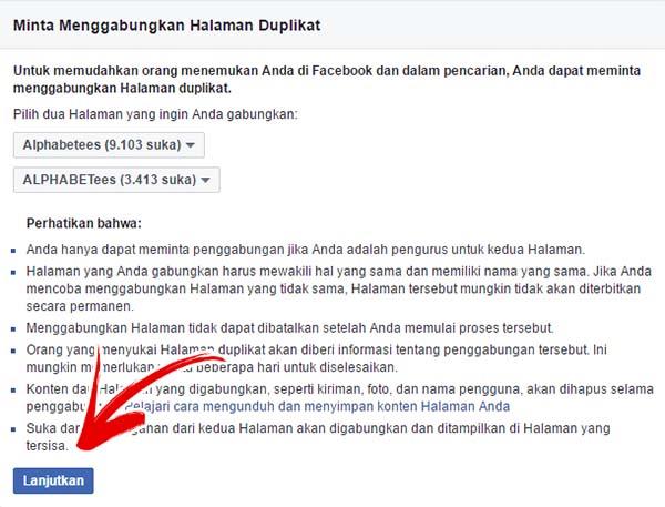 Cara Menggabungkan Dua Halaman Fanspage Facebook Jadi Satu