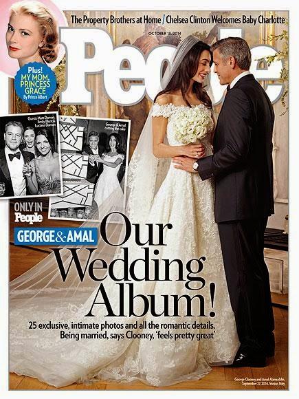 Amal Alamuddin Wedding Dress, Amal Alamuddin Wedding Photos, Amal Alamuddin Oscar de la Renta Dress, Amam Alamuddin George Clooney Wedding, Amal Alamuddin Photos