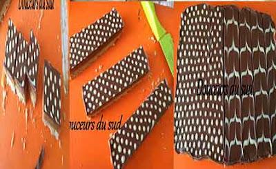 مربعات الصابلي بالكراميل والشوكولا Sablés du millionnaire