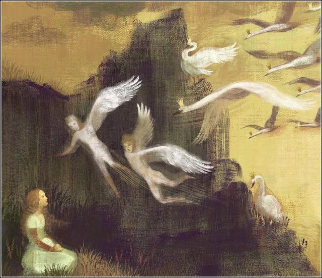 Baśnie na Warsztacie, Przemiana w ptaka, dzikie łabędzie, Andersen, Grimm, łabędzie, kruki, dojrzałość, Mateusz Świstak