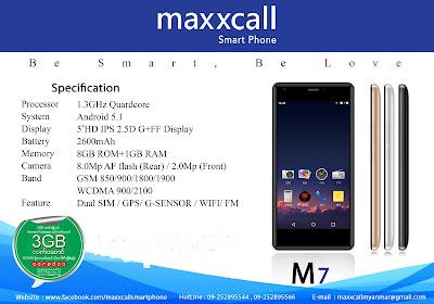 ေစ်းႏူန္းခ်ိဴသာျပီး အာမခံအျပည့္ျဖင့္၀င္လာေသာ Maxxcall Handset(မက္ေကာ)