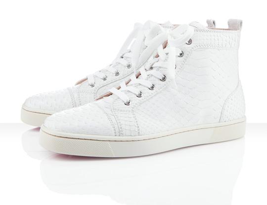 Suit Boot  Christian Louboutin Louis Men s Flat Tonal Python Sneakers