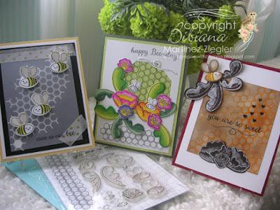 trio of cards using the same stamp set front