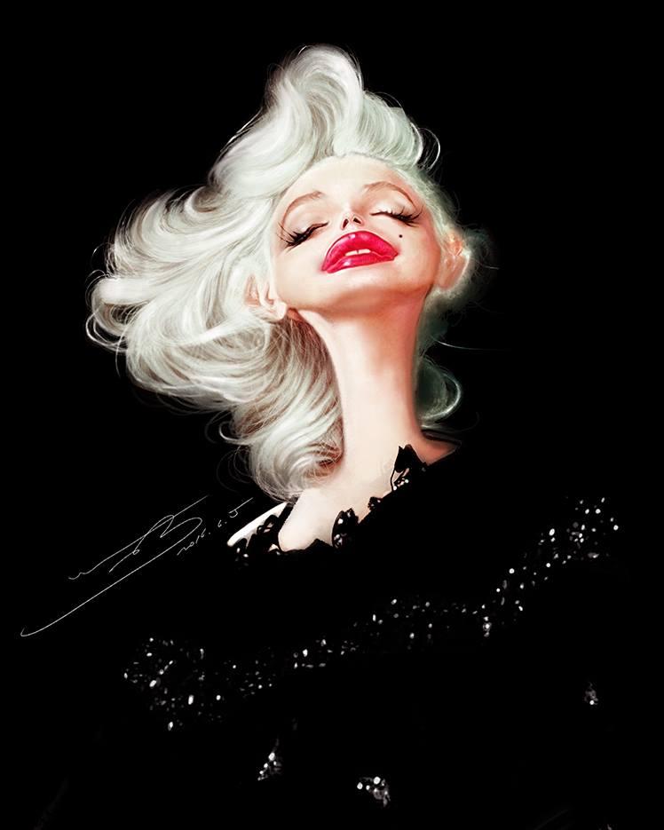 Marilyn Monroe por Rivorio Mok