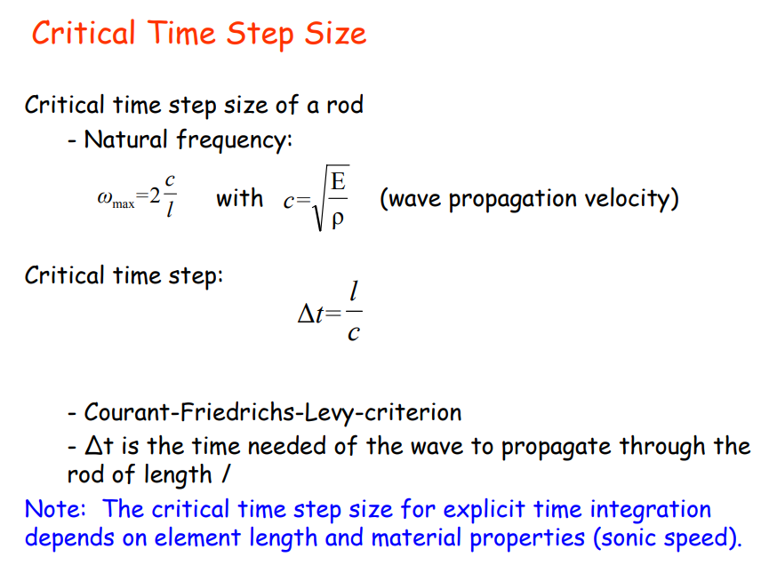 Just a PhD journal  : Abaqus Explicit time step size