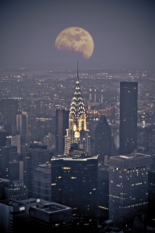 NYC New York City Moon jjbjorkman.blogspot.com