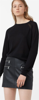 Falda Biker con bolsillos de cremallera 2017