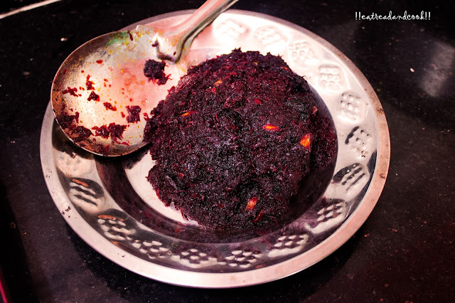 how to make beet bata / bengali style mushy beet fry recipe and preparation
