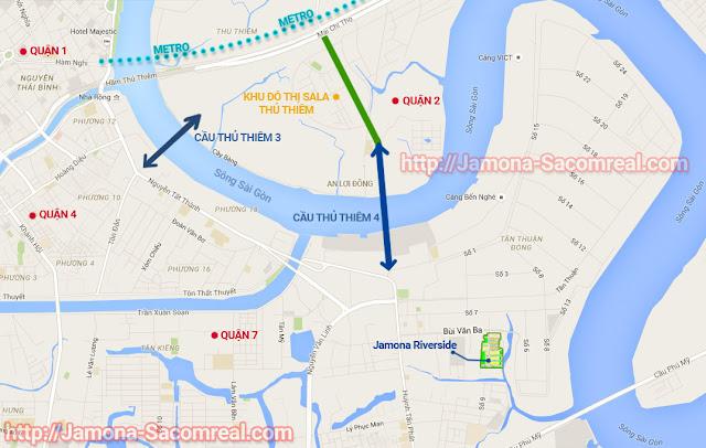 Bản đồ vị trí dự án biệt thự Jamona Riverside quận 7