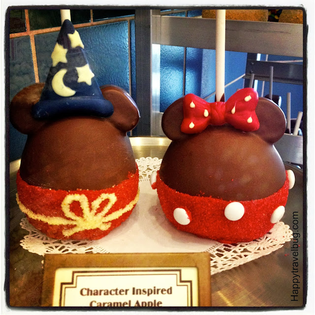 Minnie and Mickey Mouse Caramel Apples at Disney World
