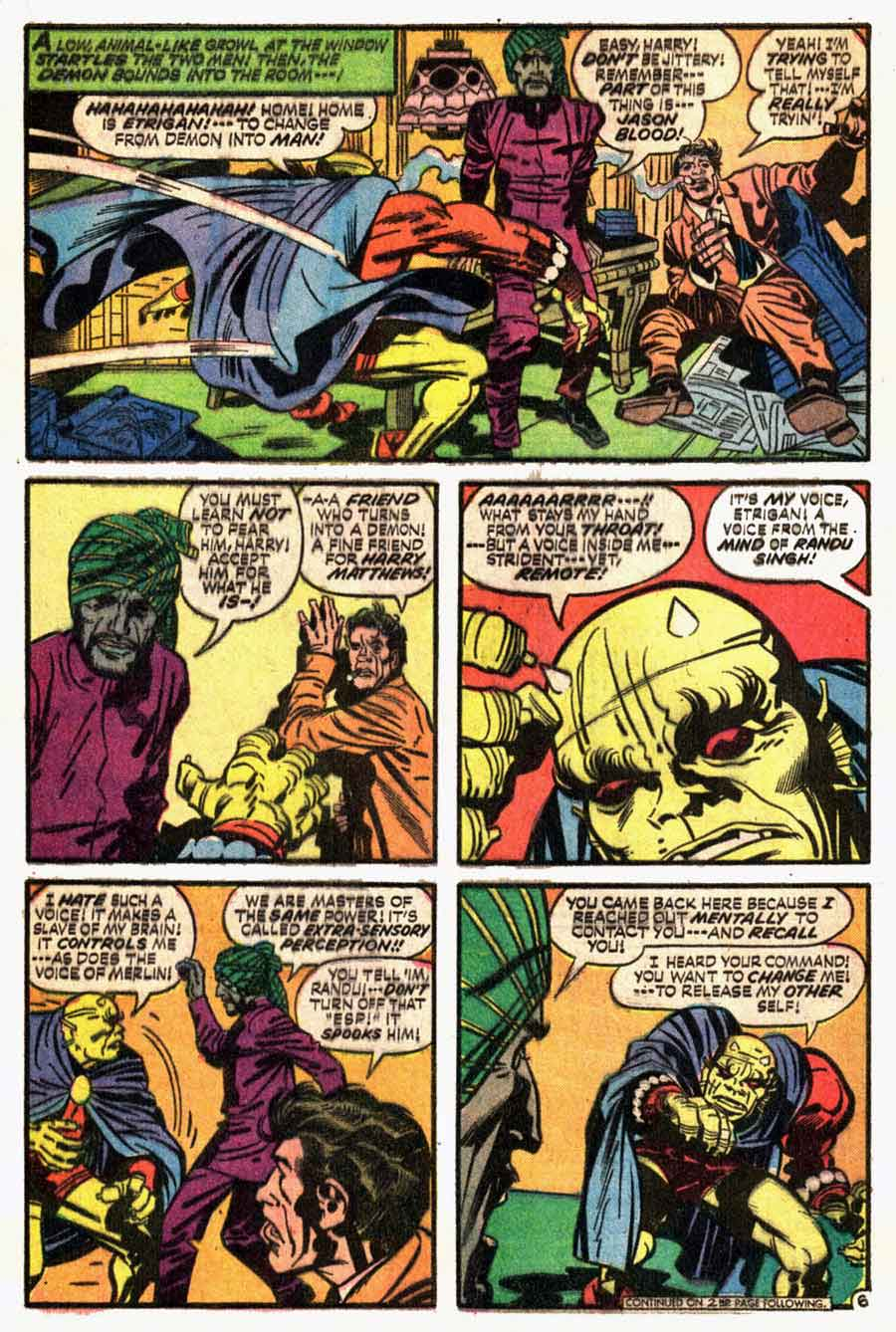 Demon v1 #4 dc bronze age comic book page art by Jack Kirby