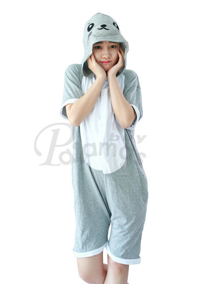 Seal Kigurumi animal onesies Pajamas Short Sleeve